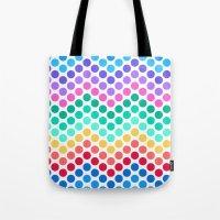 Dot Chevron: Rainbow Tote Bag