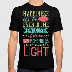 Happiness Mens Fitted Tee Black SMALL