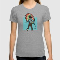 Strawberry Girl Womens Fitted Tee Tri-Grey SMALL