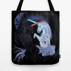 Starwars with unicorns (black) Tote Bag