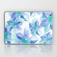 Turquoise Florals Laptop & iPad Skin