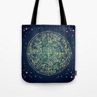 Zodiac Star Map Tote Bag