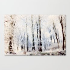 Winter Landscape Aquarel… Canvas Print