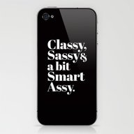 Classy, Sassy And A Bit … iPhone & iPod Skin