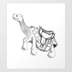 Tortoise Ride Anyone?! Art Print