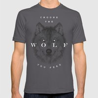 Choose The Wolf You Feed Mens Fitted Tee Asphalt SMALL