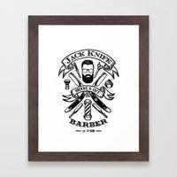 Jack Knife Framed Art Print