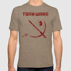 Tsar Wars Mens Fitted Tee Tri-Coffee SMALL