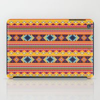 Navajo blanket pattern- orange iPad Case