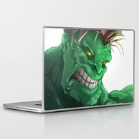 hulk Laptop & iPad Skins featuring HULK by peocle