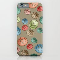 Buttons {Polka buttons} iPhone 6 Slim Case
