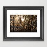 Iowa Winter Sun Framed Art Print