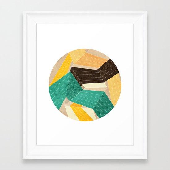 Lines Inside Framed Art Print
