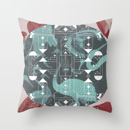 Eumaniraptora Throw Pillow