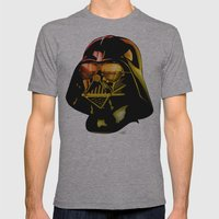 STAR WARS Darth Vader Mens Fitted Tee Athletic Grey SMALL