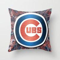 Cubs swirl Throw Pillow