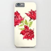 Three Red Roses iPhone 6 Slim Case