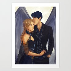 Feyre and Rhysand Art Print