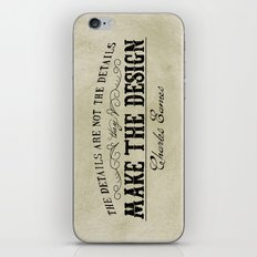 The Details are not the Details iPhone & iPod Skin