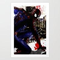 Spiderman In London Clos… Art Print