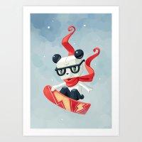 Snowboarding Art Print