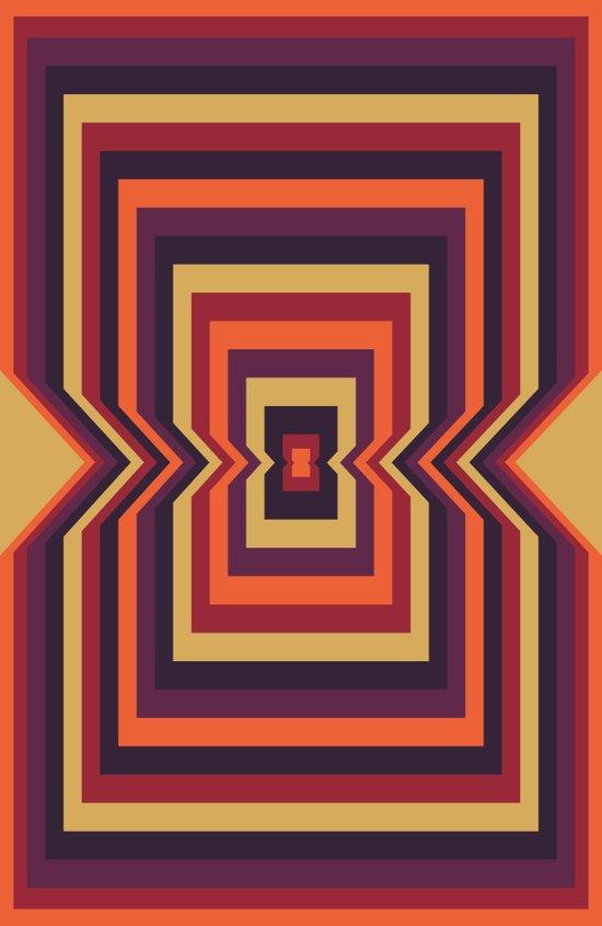 Squared Vortex Art Print