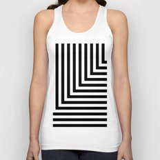 Black and White L Stripes // www.pencilmeinstationery.com Unisex Tank Top
