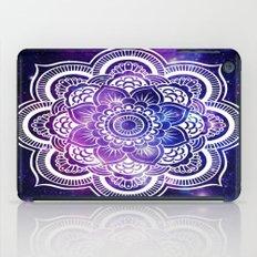 Mandala purple blue galaxy space iPad Case