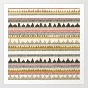 Mountain triangle pattern Art Print