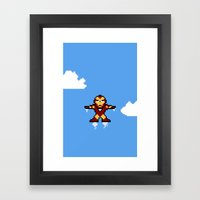 Iron Pixel Framed Art Print