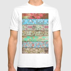 Rococo Style Mens Fitted Tee SMALL White