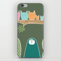 Sleepy Birds iPhone & iPod Skin