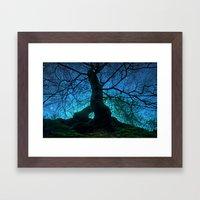 Tree under a spangled sky (light) Framed Art Print