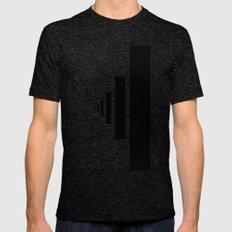 SOMEWHERE IN NOWHERE Mens Fitted Tee Tri-Black SMALL