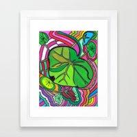 PLant LIfe Framed Art Print