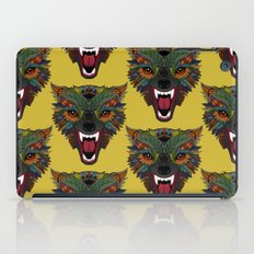 wolf fight flight ochre iPad Case