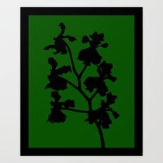Orchid in Pale Pink - Original Floral Botanical Papercut Design Art Print