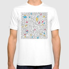 step brother triangles Mens Fitted Tee White SMALL