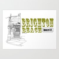 Brighton Beach Elevated … Art Print
