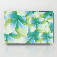 Blue Plumeria Floral Wat… iPad Case