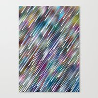 Like Neon Rain Canvas Print