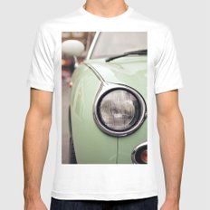 The green car Mens Fitted Tee SMALL White