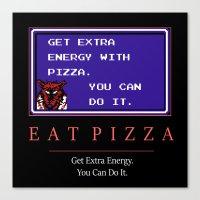 Eat Pizza Canvas Print