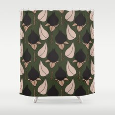 Black Rose Print  Shower Curtain