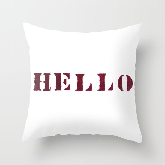 Hello You Throw Pillow