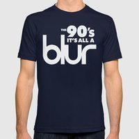 The 90's it's all a blur Mens Fitted Tee Navy SMALL