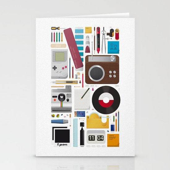 Stuff (white background) Stationery Card