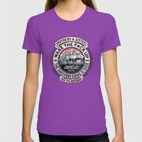 the awaken sheep (variant 2) Womens Fitted Tee Ultraviolet SMALL