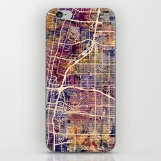 Albuquerque New Mexico City Street Map iPhone & iPod Skin