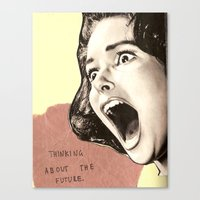 Thinking About The Futur… Canvas Print